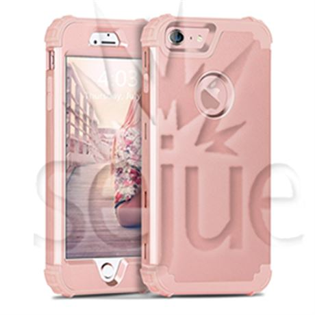 Funda iPhone 6S, funda iPhone 6, BENTOBEN 3 en 1 PC rígido híbrido